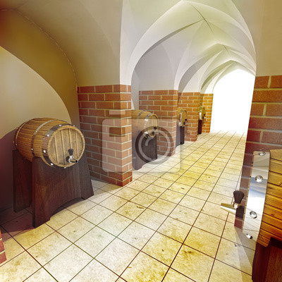 barils d'alcool boivent cave souterraine