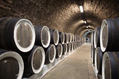 Papiers peints Barils dans la cave à vin