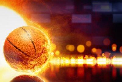 Papiers peints basket-ball brûlant