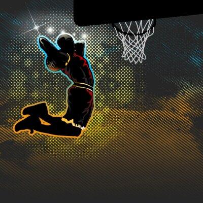 Papiers peints Basket-ball, joueur, va, deux, donné, dunk