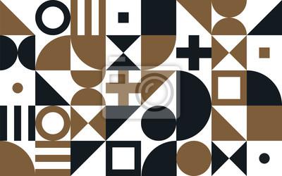 Bauhaus art vecteur de fond des formes géométriques et des éléments simples