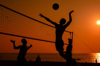 Papiers peints Beach-volley silhouette