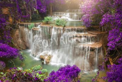 Papiers peints Beau, chute eau, automne, forêt, profond, forêt, chute eau, kanchanaburi, province ...