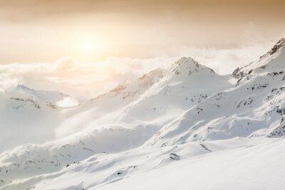 Papiers peints Beau, hiver, paysage, neige-couvert, montagnes