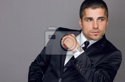 Beau jeune homme porte une montre papier peint • papiers peints ... 7f056368a45e