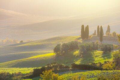 Papiers peints Beau, Lever soleil, paysage, pittoresque, collines