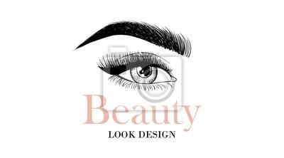 Papiers Peints Beaut Look Design Carte De Visite Ou Modle Logo Avec Les Yeux Ouverts
