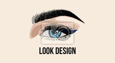 Papiers Peints Beaut Look Design Carte De Visite Ou Modle Logo Avec Oeil