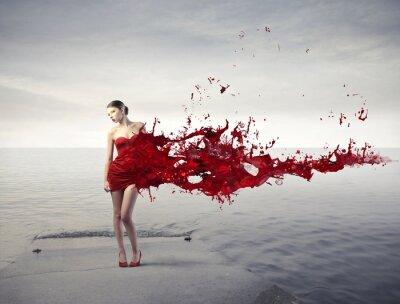 Papiers peints Beauté rouge