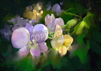 Papiers peints beautiful painting of orchid flowers