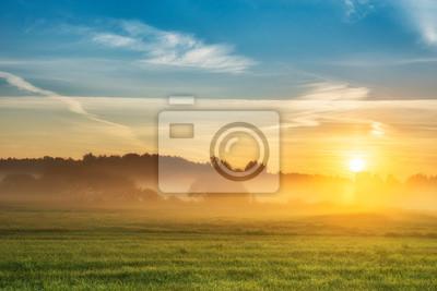 Papiers peints Beautiful summer sunrise over fields