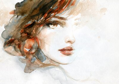 Papiers peints beautiful woman. fashion illustration. watercolor painting