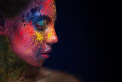 Papiers peints Beautiful woman portrait with bright art make-up