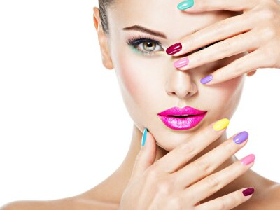 Papiers peints beautiful woman  with colored nails