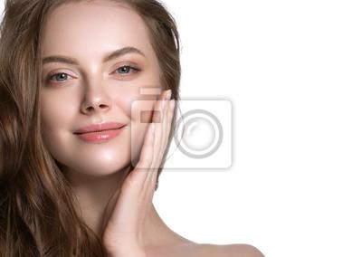Papiers peints Beauty skin care woman natural makeup female model closeup