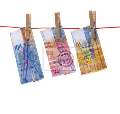 Beignets suisses sur la corde à linge