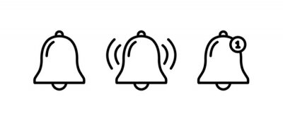 Papiers peints Bell notification line icon, Bell notification symbol vector