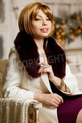 23c6ee99e0cb En Papier De Dadultes Femme Fourrure Avec La Dhiver Manteau Belle pFaEwzvx