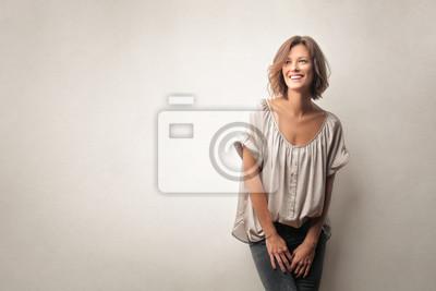 Papiers peints Belle femme en train de rire