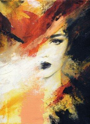 Papiers peints belle femme. illustration de mode. peinture à l'aquarelle