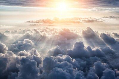 Papiers peints Belle fond de ciel bleu