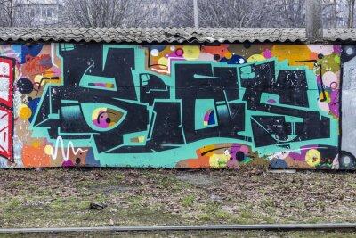 Papiers peints Belle graffiti d'art de rue. Résumé créatrice de mode de dessin
