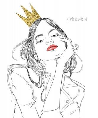 Papiers peints belle jeune femme avec une couronne