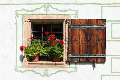Papiers peints Belle maison de campagne avec des fleurs