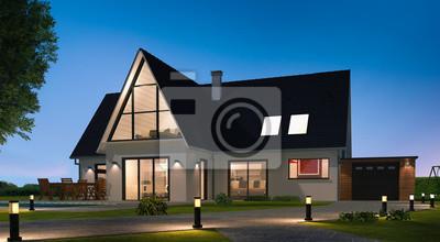 Papiers peints: Belle maison moderne architecte