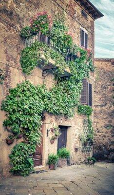 Papiers peints Belle rue de Montisi, Toscane
