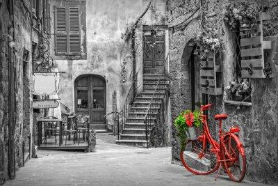 Papiers peints Belle ruelle en Toscane, vieille ville, Italie