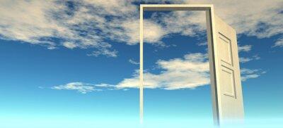 Papiers peints Belle vue sur le ciel. Portes au ciel.