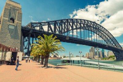 Papiers peints Belle vue sur le pont du port de Sydney