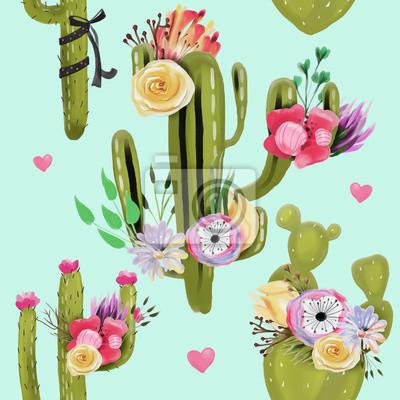 Belles Cactus Aquarelles Cactus Plantes Succulentes Avec Des