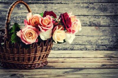 Papiers peints Belles fleurs roses