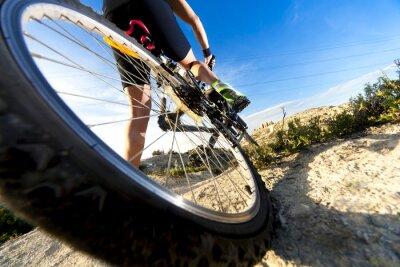 Papiers peints Bicicleta de montaña y hombre.Deporte en extérieur