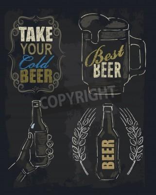 Papiers peints Bière à la craie
