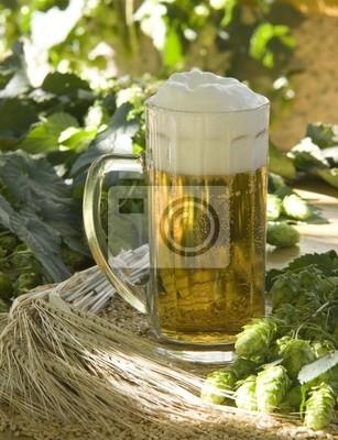 Bière avec du houblon