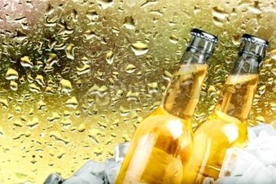 Papiers peints Bière, Bouteille de bière, Glace.