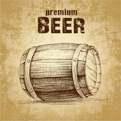 Papiers peints bière en fût pour l'étiquette, package.vintage baril