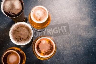 Papiers peints Bière, lunettes, sombre, table