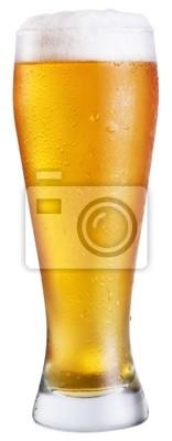 Bière; objets sur fond blanc