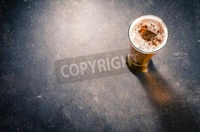 Papiers peints Bière, verre, sombre, table