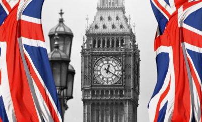 Papiers peints Big Ben à Londres et en anglais drapeau
