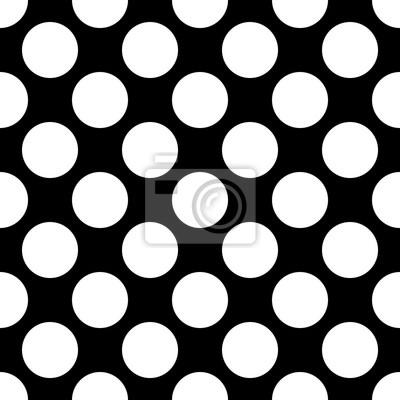 Papiers Peints Big Polka Dot Modèle Sans Soudure. Résumé, Mode, Noir, Blanc
