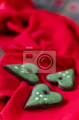 biscuits de coeur vert