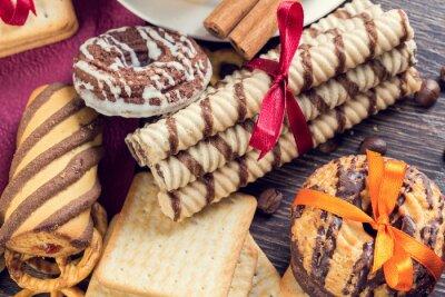 Papiers peints Biscuits sur table
