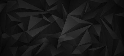 Papiers peints Black dark  3d low poly geometric background .