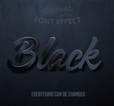 Papiers peints Black text, editable font effect