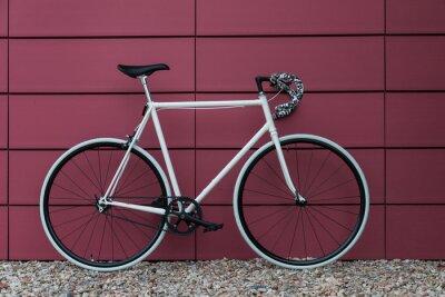 Papiers peints Blanc fixie vélo mur rose